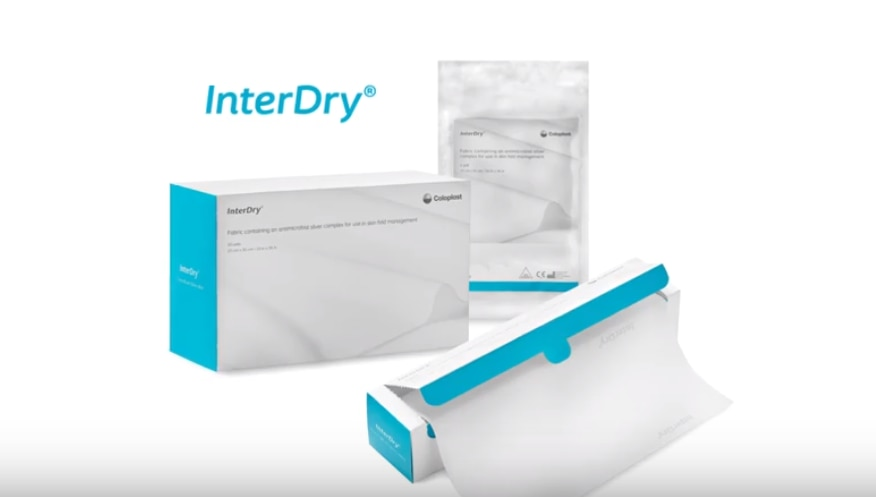 InterDry is a 3-in-1 product for skin fold management