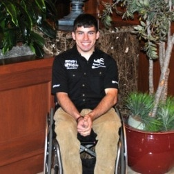 First paralyzed F1 driver